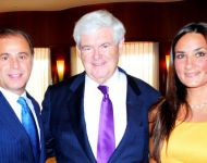 Zaya and Sherry Younan with Newt Gingrich
